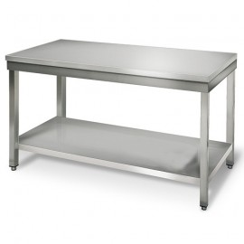 TABLE INOX L 1600 x P 700 x H 850 mm