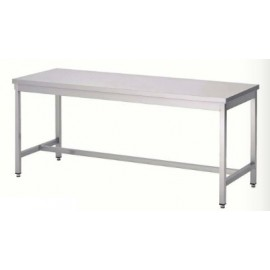 TABLE INOX 180 x 60 cm