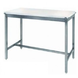 TABLE INOX 120 x 70 cm