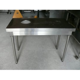 TABLE INOX 120 / 60 cm