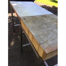 TABLE DECOUPE BOIS INOX