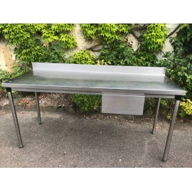 TABLE INOX 60 x 60 cm